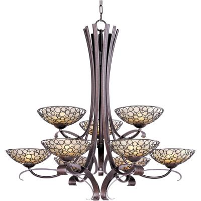 Maxim Lighting 21346DWUB Meridian - Nine Light 2-Tier Chandelier