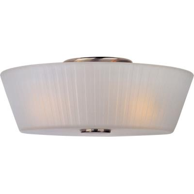 Maxim Lighting 21500FTSN Finesse - Three Light Flush Mount