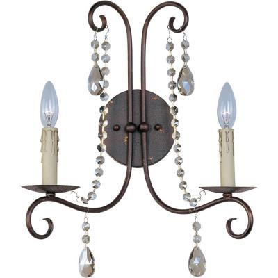 Maxim Lighting 22192UR Adriana - Two Light Wall Sconce
