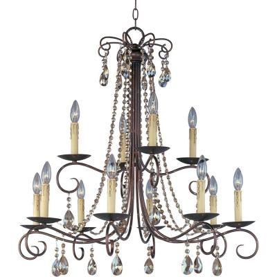 Maxim Lighting 22199UR Adriana - Twelve Light 2-Tier Chandelier