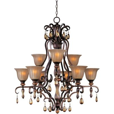 Maxim Lighting 22266EMFL Dresden - Nine Light 2-Tier Chandelier
