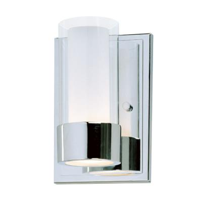 Maxim Lighting 23071CLFTPC Silo - One Light Wall Sconce