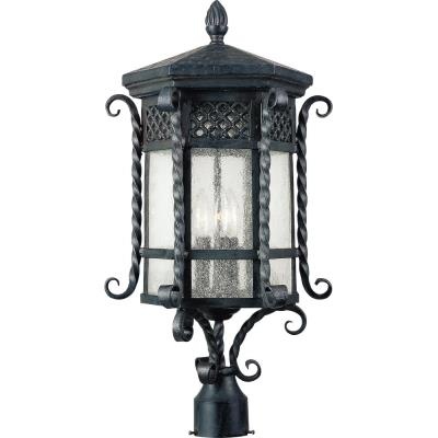 Maxim Lighting 30121CDCF Scottsdale - Three Light Outdoor Pole/Post Mount