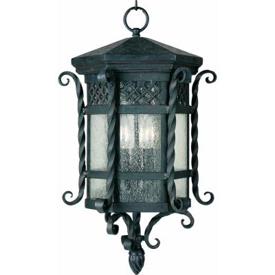 Maxim Lighting 30128CDCF Scottsdale - Three Light Outdoor Hanging Lantern
