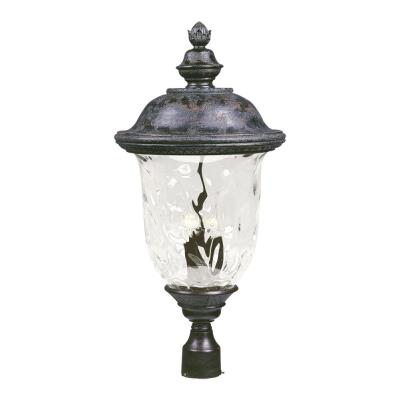 Maxim Lighting 3421 Carriage House DC - Three Light Outdoor Pole/Post Mount