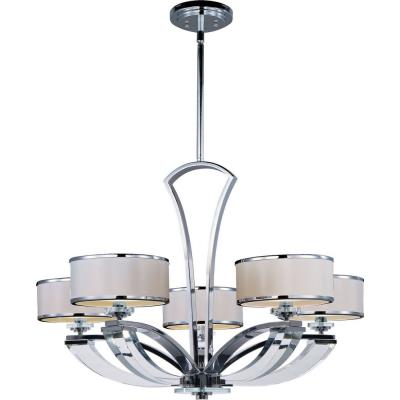 Maxim Lighting 39825BCWTPC Metro - Five Light Chandelier