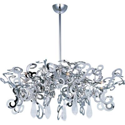 Maxim Lighting 39846PN/CRY154 Tempest - Nine Light Chandelier