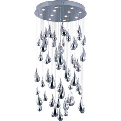 "Maxim Lighting 39860PCPC Rain - 72"" 48W 12 LED Chandelier"