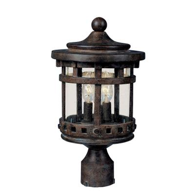 Maxim Lighting 40036CDSE Santa Barbara VX - Three Light Outdoor Pole Mount