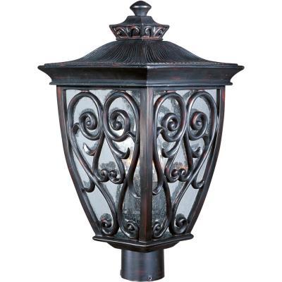 Maxim Lighting 40120CDOB Newbury VX - Three Light Outdoor Pole/Post Mount