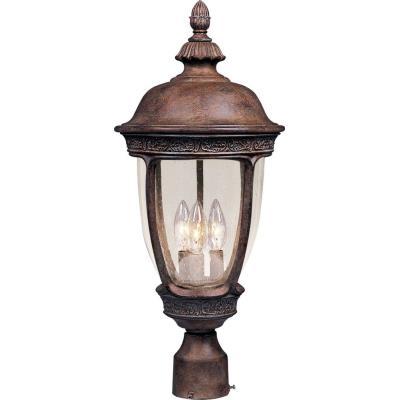 Maxim Lighting 40461CDSE Knob Hill VX - Three Light Outdoor Pole/Post Mount