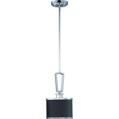 Maxim Lighting 90371BKPC Salon - One Light Mini-Pendant
