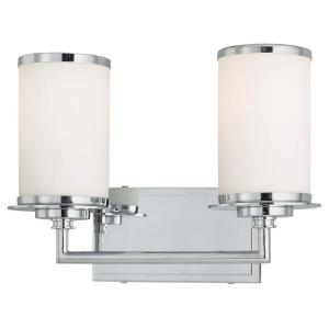Glass Note - Two Light Bath Vanity