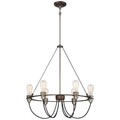 Minka Lavery 4456-784 Uptown Edison - Six Light Pendant