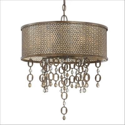 Minka Metropolitan Lighting N6724-258-O Ajourer - Eight Light Drum Pendant