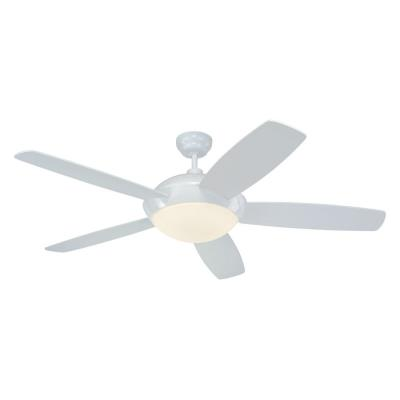 "Monte Carlo Fans 5SLR52WHD-B Sleek -52"" Outdoor Ceiling Fan"