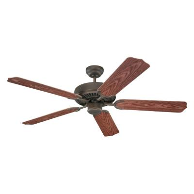 "Monte Carlo Fans 5WF52RB Weatherford -52"" Outdoor Ceiling Fan"