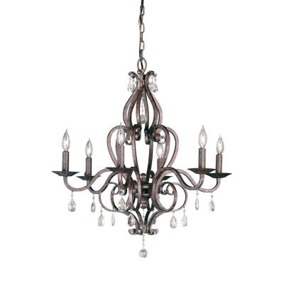 Feiss F1798/6PBR 6 Light Chandelier