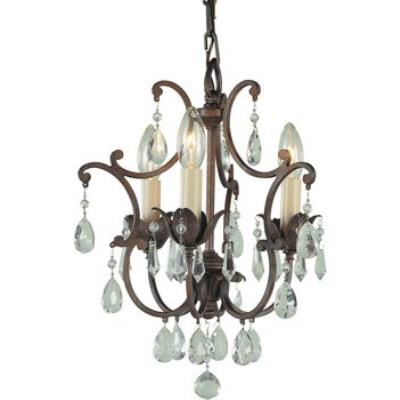 Feiss F1880/3BRB 3 Lt Mini Duo Chandelier