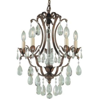Feiss F1882/5BRB 5 Lt Mini Duo Chandelier
