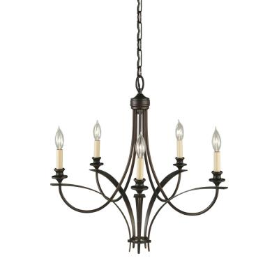 Feiss F1888/5ORB Boulevard 5 Light Chandelier