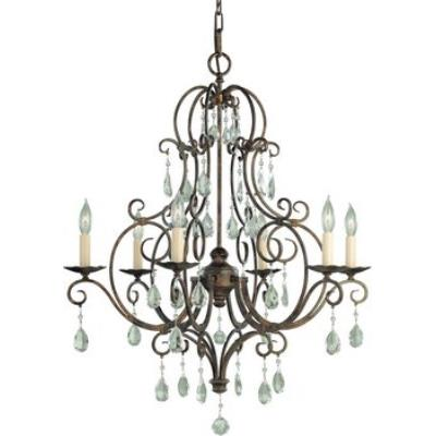 Feiss F1902/6MBZ 6 Light Chandelier w/crystals