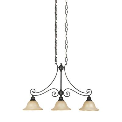 Feiss F2185/3LBR Cervantes Collection Chandelier - Billiard