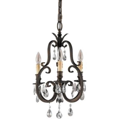 Feiss F2226/3ATS Salon Ma Maison Collection Chandelier - Mini Duo