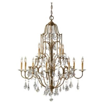 Feiss F2479/8+4OBZ Valentina - Twelve Light Two Tier Chandelier