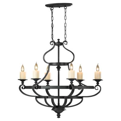 Feiss F2517/6AF King's Table - Six Light Chandelier