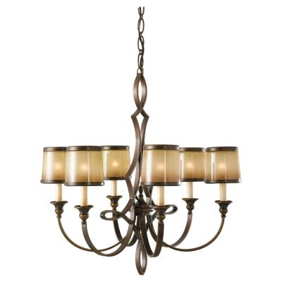 Feiss F2529/6ASTB Justine - Six Light Chandelier