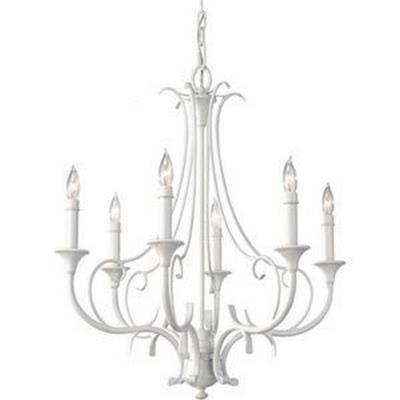 Feiss F2533/6SGW Peyton Saltspray - Six Light Chandelier