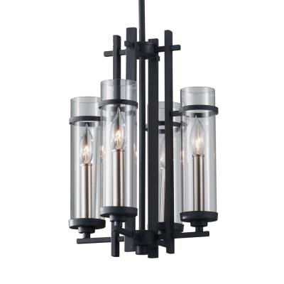 Feiss F2627/4AF/BS Ethan - Four Light Mini-Chandelier