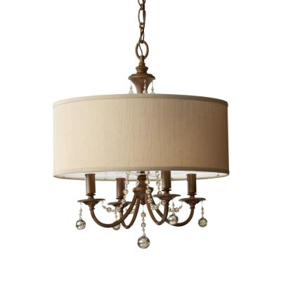 Feiss F2727/4FG Clarissa - Four Light Chandelier