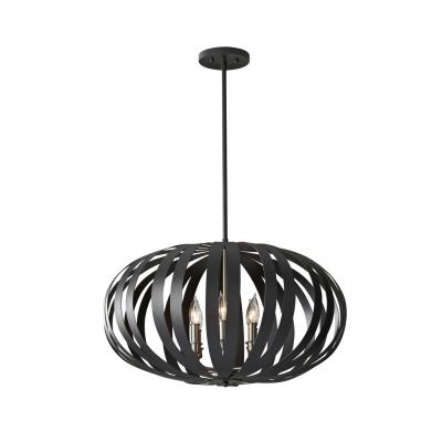 Feiss F2739/6TXB Woodstock - Six Light Chandelier