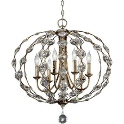Feiss F2740/6BUS Leila - Six Light Chandelier