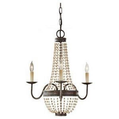 Feiss F2755/3PBR Charlotte - Three Light Chandelier