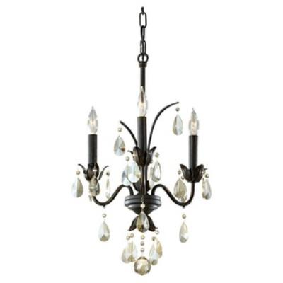 Feiss F2756/3LBR Charlene - Three Light Chandelier