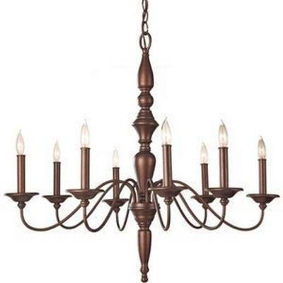 Feiss F2791/8PRBZ Yorktown Heights - Eight Light Chandelier