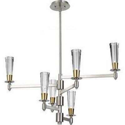 Feiss F2814/6BN/NB Celebration - Six Light Two-Tier Chandelier
