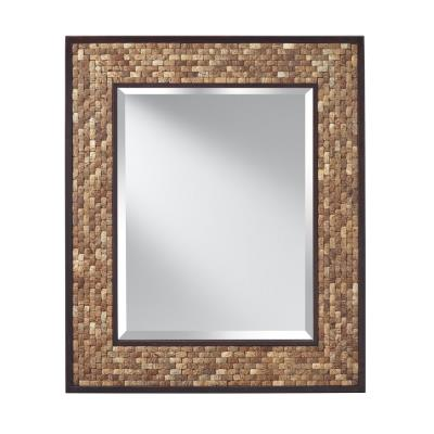 "Feiss MR1211NCK Weave - 31"" Mirror"