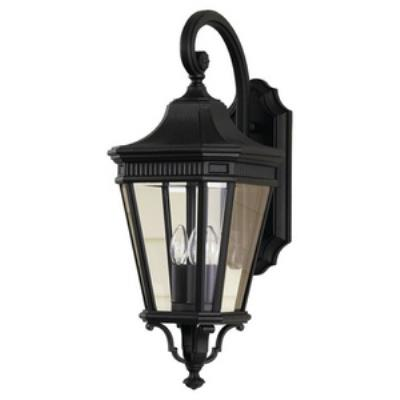 Feiss OL5402BK Cotswold Lane - Three Light Outdoor Wall Lantern