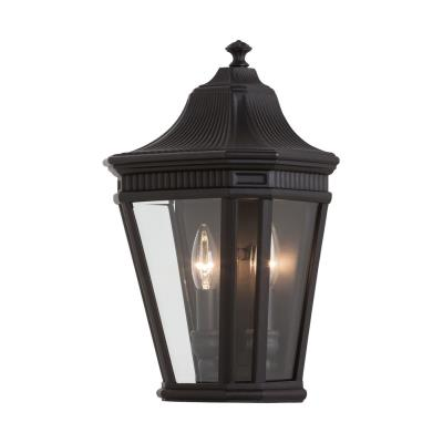 Feiss OL5403BK Cotswold Lane - Two Light Outdoor Wall Lantern