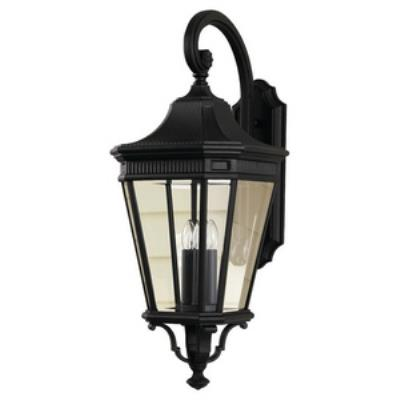 Feiss OL5404BK Cotswold Lane - Three Light Outdoor Wall Lantern