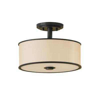 Feiss SF251DBZ 2-Light Casual Luxury Semi Flushmount