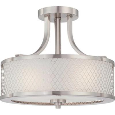 Nuvo Lighting 60/4692 Fusion - Three Light Semi-Flush Mount