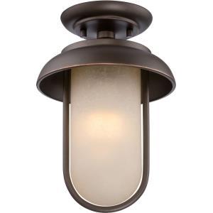 "Tulsa - 11.88"" 9.8W LED Outdoor Flush Mount"
