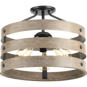 Gulliver - Three Light Convertible Semi-Flush Mount