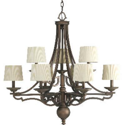 Progress Lighting P4568-102 Meeting Street - Nine Light 2-Tier Chandelier