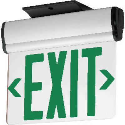 Progress Lighting PE014-30 Exit Sign with Green Colored Letters